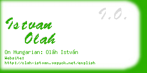 istvan olah business card